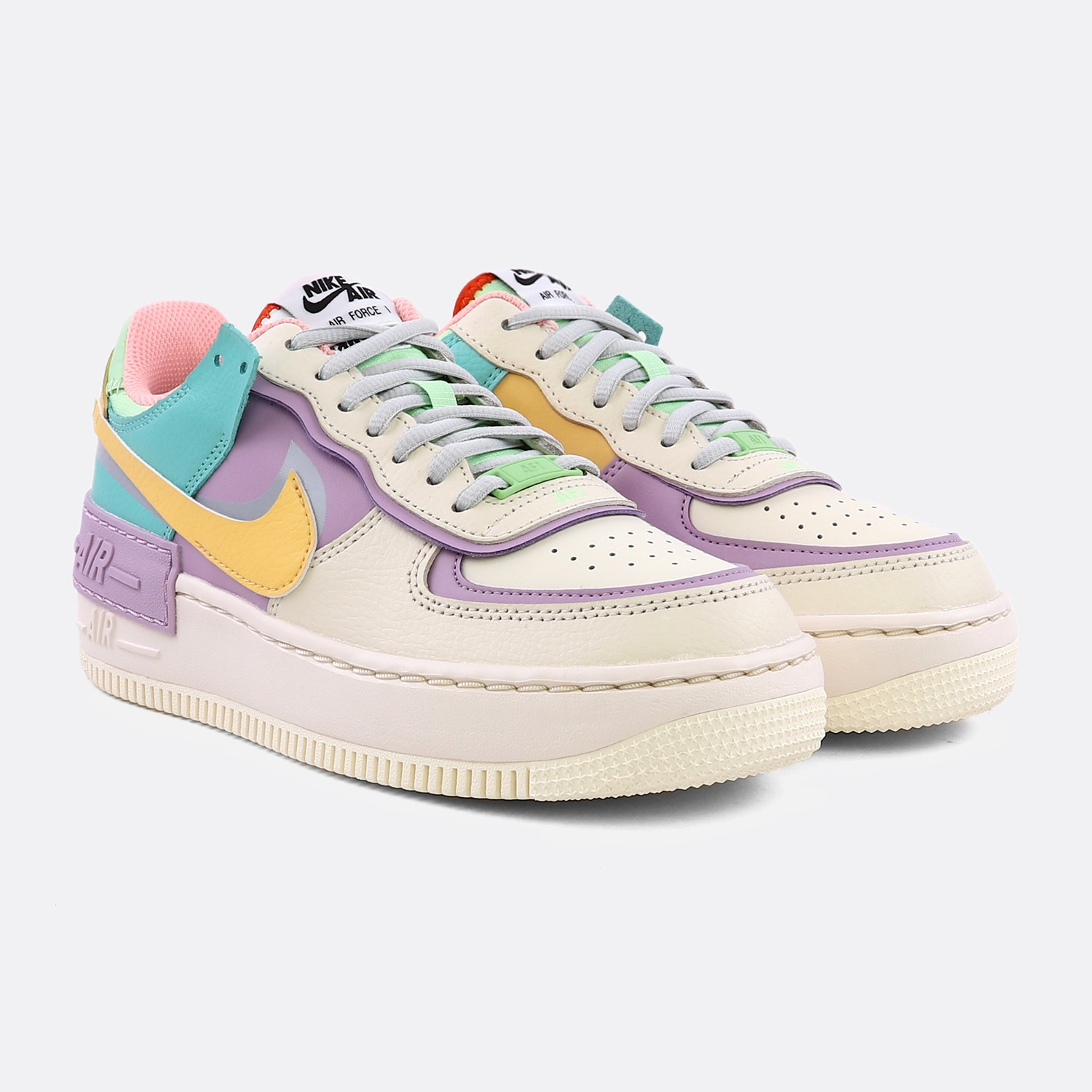 NIKE WOMEN AIR FORCE 1 SHADOW PALE IVORY CELESTIAL GOLD