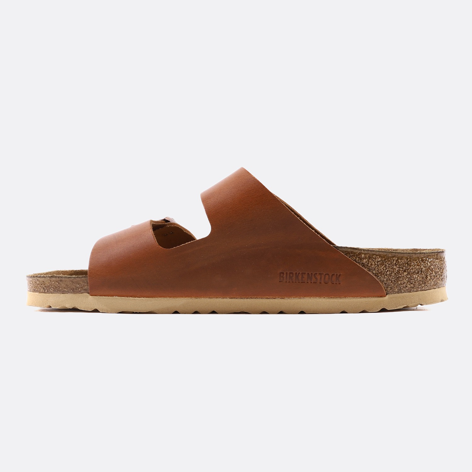 BIRKENSTOCK ARIZONA CUIR NATUREL ANTIQUE PULL COGNAC